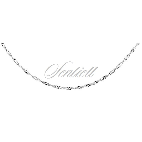 Silver (925) chain singapur Ø 027 weight from 1,5g