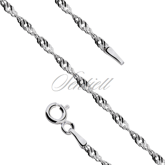 Silver (925) chain singapur bracelet Ø 040 weight from 1,6g