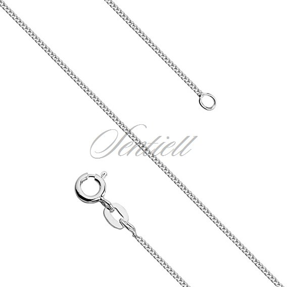 Silver (925) diamond-cut chain - curb Ø 030