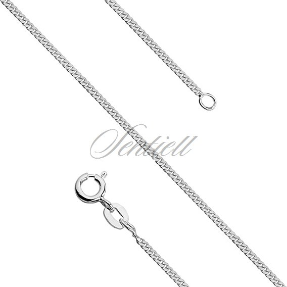 Silver (925) diamond-cut chain - curb Ø 039