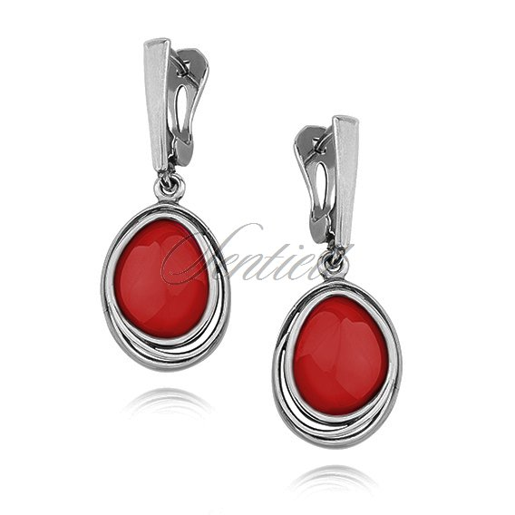 Silver (925) earrings Coral