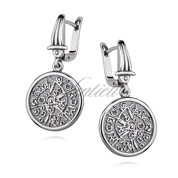 Silver (925) earrings - The history of Earth