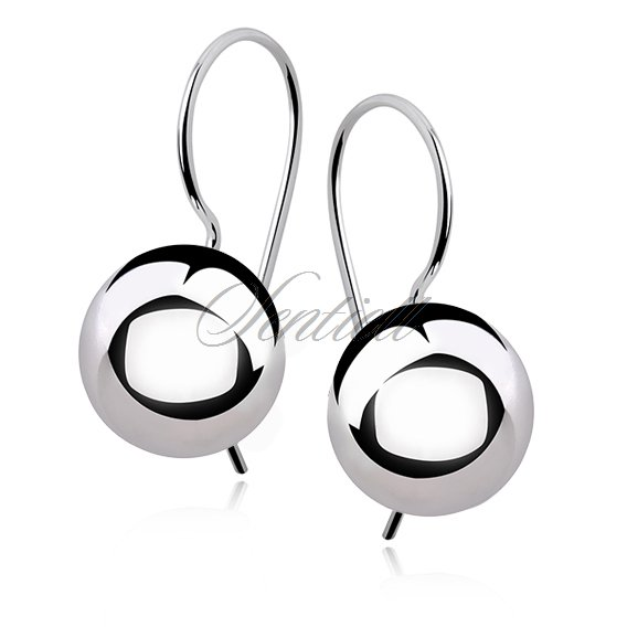 Silver (925) earrings balls 12mm