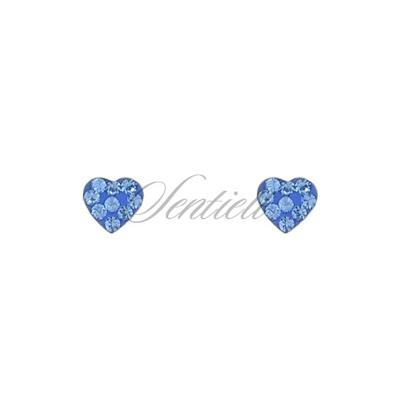 Silver (925) earrings blue hearts