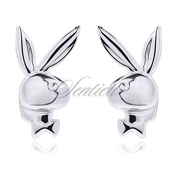 Silver (925) earrings bunnies