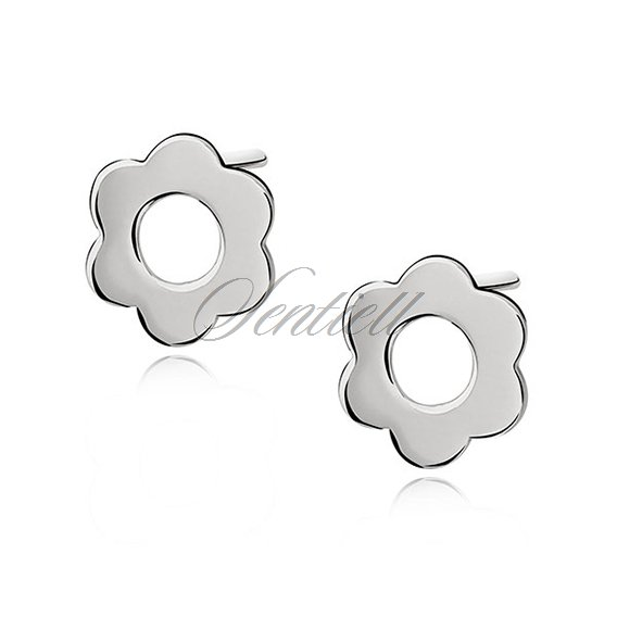 Silver (925) earrings celebrity,  flowers