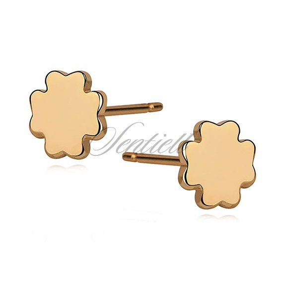 Silver (925) earrings - gold-plated clovers