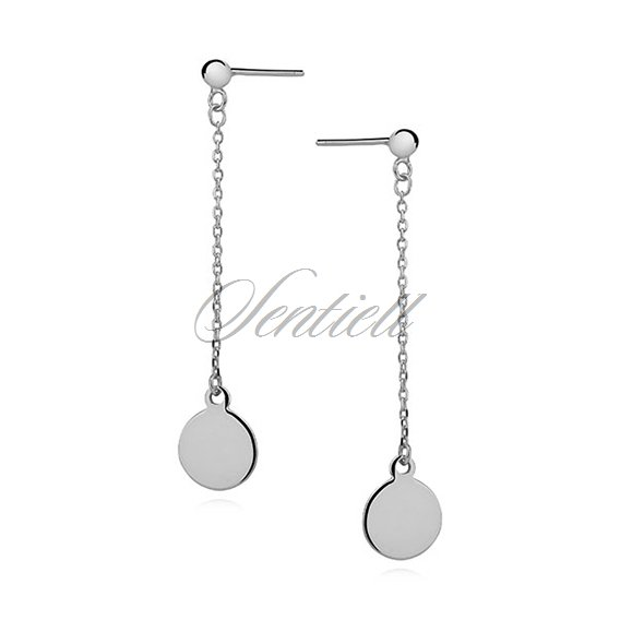Silver (925) earrings - hanging circles