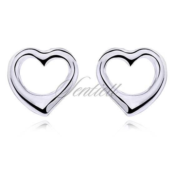 Silver (925) earrings hearts