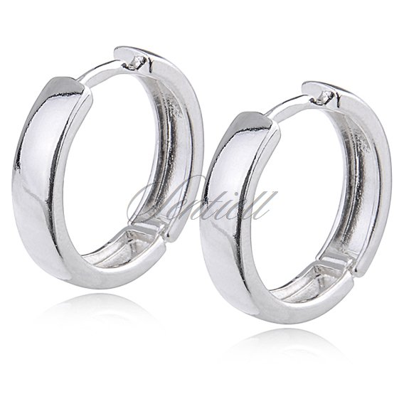 Silver (925) earrings hoop