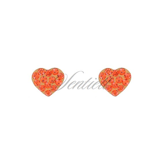 Silver (925) earrings orange hearts