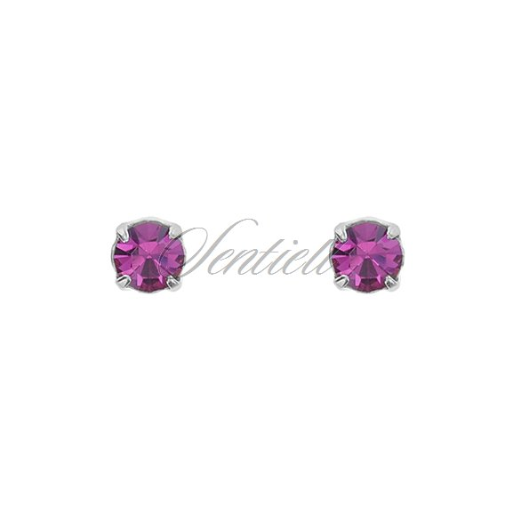 Silver (925) earrings pink zirconia