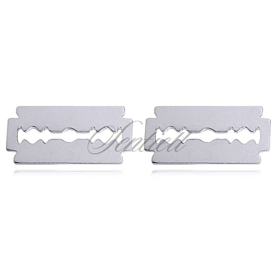 Silver (925) earrings - razor blades