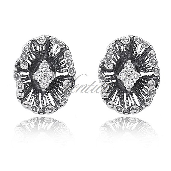 Silver (925) earrings zirconia