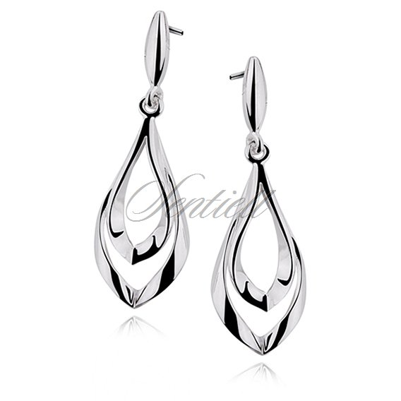 Silver (925) elegant earrings high polished