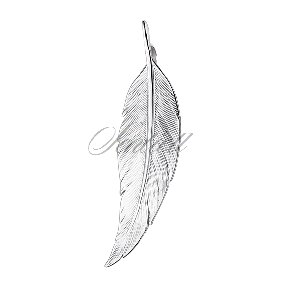 Silver (925) elegant pendant - feather