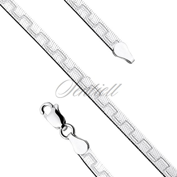 Silver (925) flat chain necklace with a pattern Ø 040 weight from 6,1g
