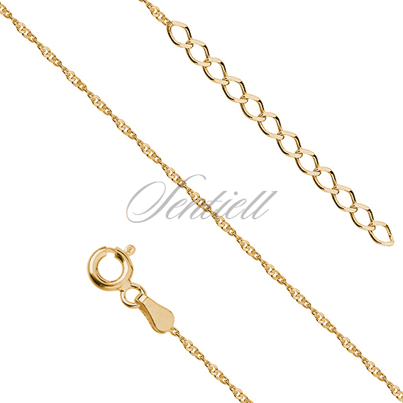 Silver (925) gold-plated anklet - adjustable size