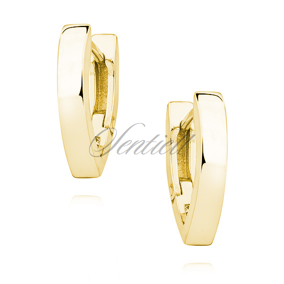 Silver (925) gold-plated earrings V shaped