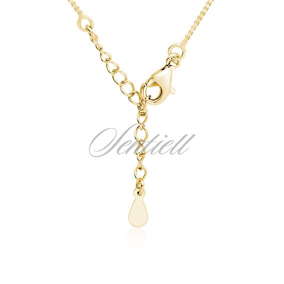 Silver (925) stylish, bridal, gold-plated necklace with zirconia