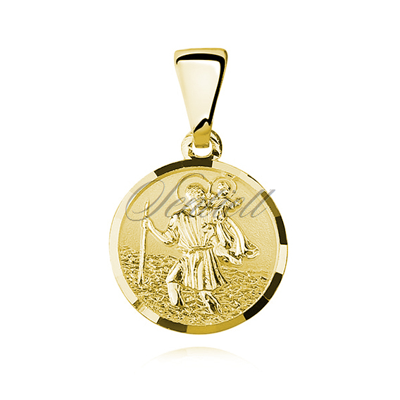 Silver (925) gold-plated pendant Saint Christopher