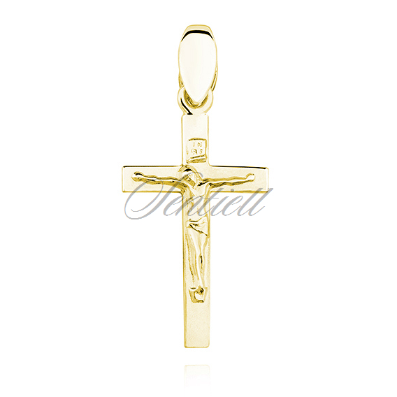 Silver (925) gold-plated pendant cross