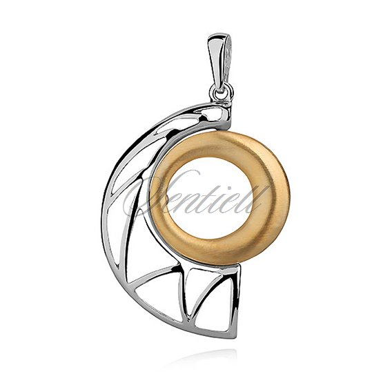 Silver (925) gold-plated pendant with satin