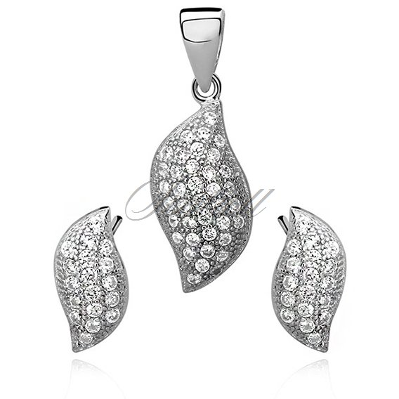 Silver (925) jewelry elegant set zirconia
