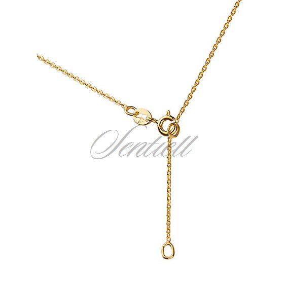 Silver (925) lariat necklace with open-work pendant and circle, gold-plated
