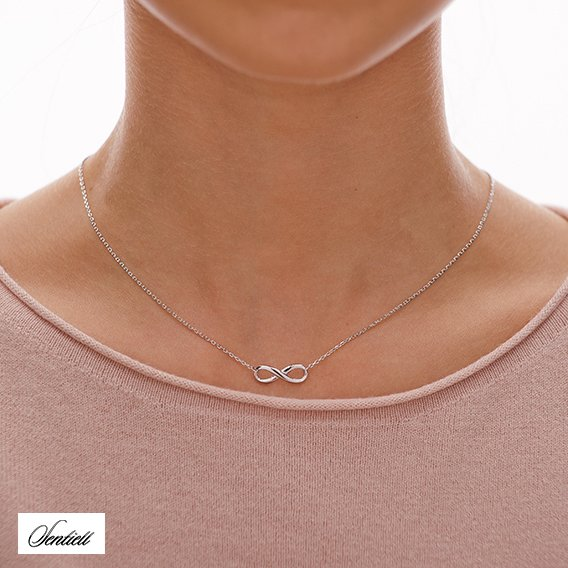Silver (925) necklace Infinity