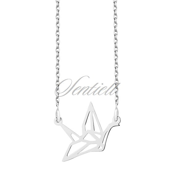 Silver (925) necklace - Origami dove