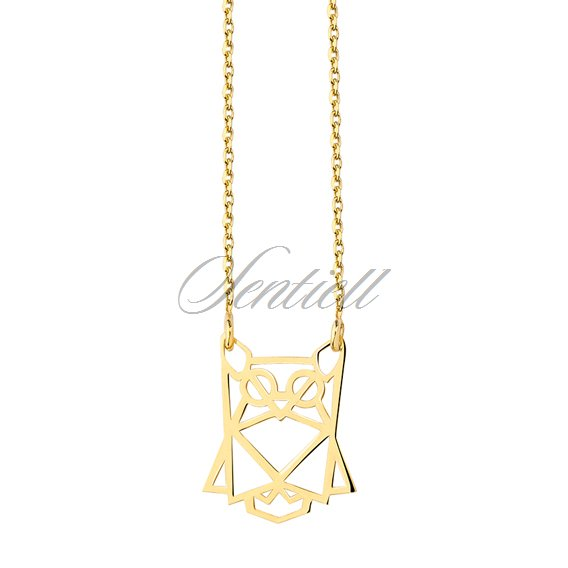 Silver (925) necklace - Origami owl gold-plated