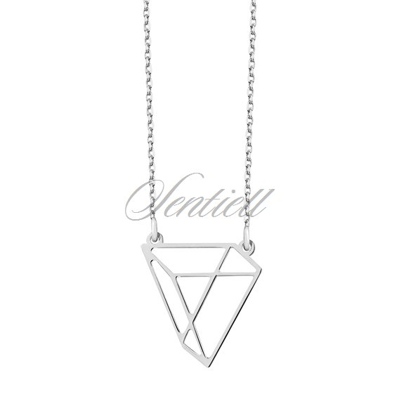 Silver (925) necklace - Origami triangle