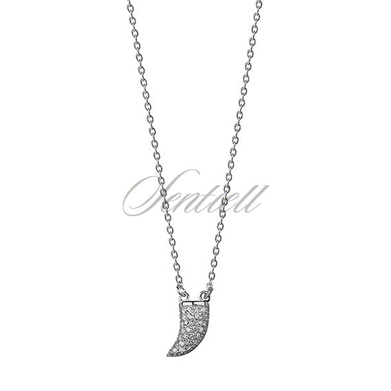 Silver (925) necklace - canine with zirconia