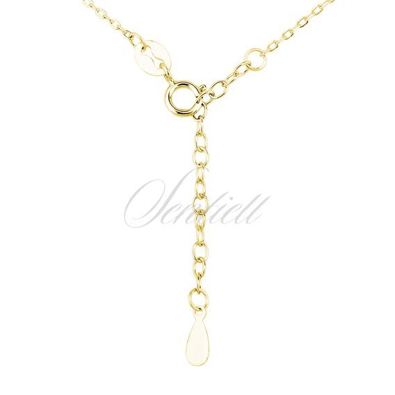 Silver (925) necklace - cirlce with zirconia