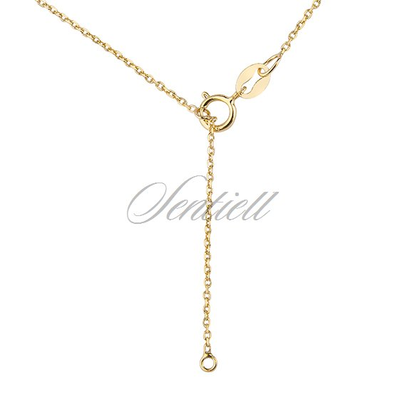Silver (925) necklace - gold-plated circle