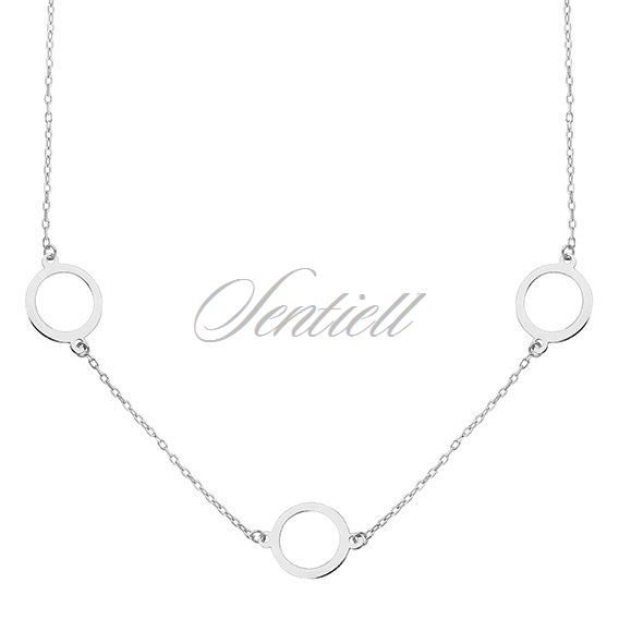 Silver (925) necklace - three circles