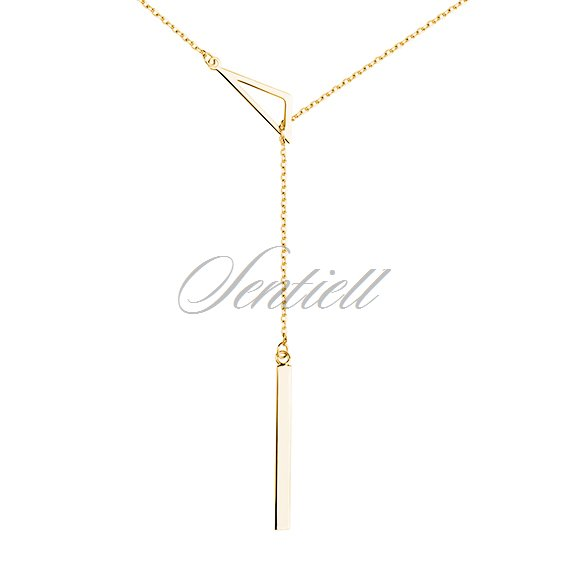 Silver (925) necklace - triangle, gold-plated