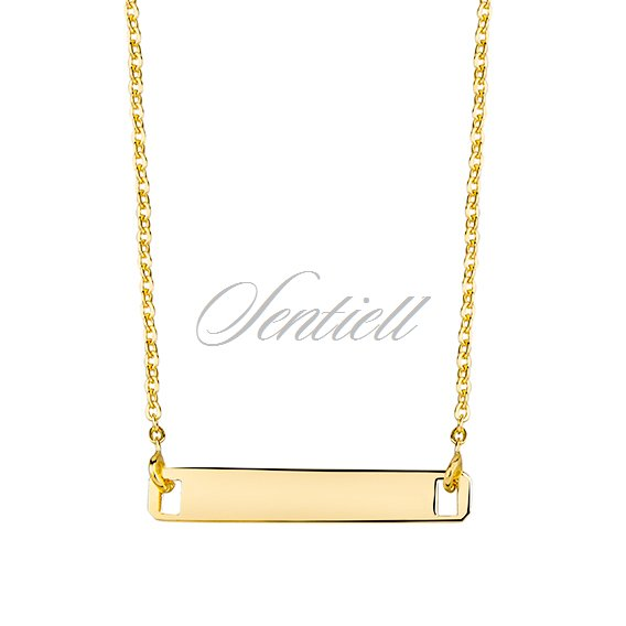 Silver (925) necklace with ID tag, gold-plated