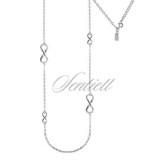 Silver (925) necklace with Infinity