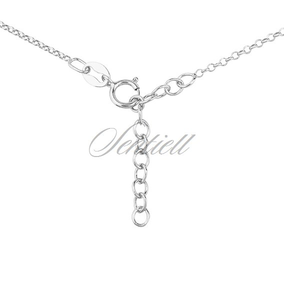 Silver (925) necklace with butterfly, flower and heart