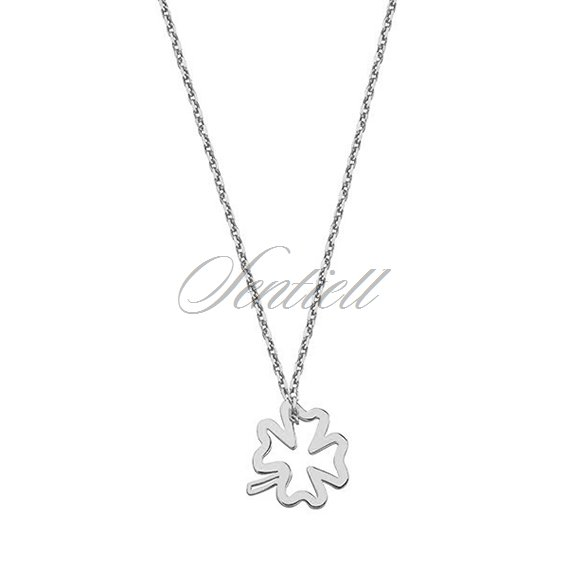 Silver (925) necklace with clover