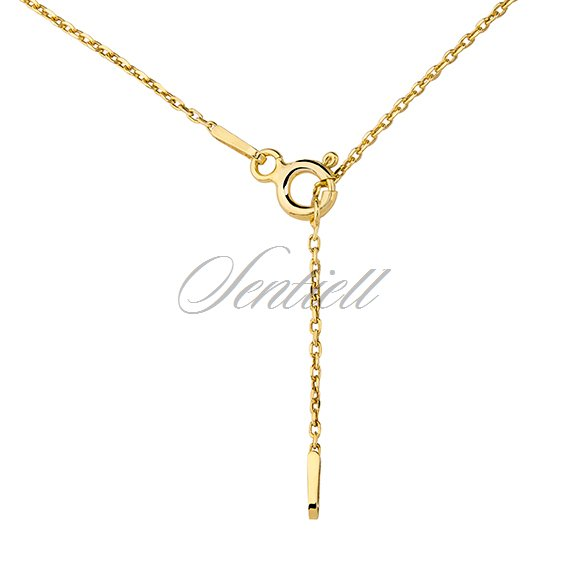 Silver (925) necklace with diamond-cut heart pendant - gold-plated