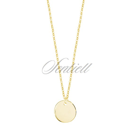 Silver (925) necklace with gold-plated circle
