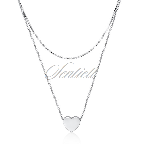 Silver (925) necklace with heart