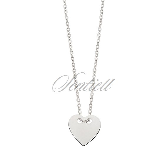 Silver (925) necklace with heart metal tag