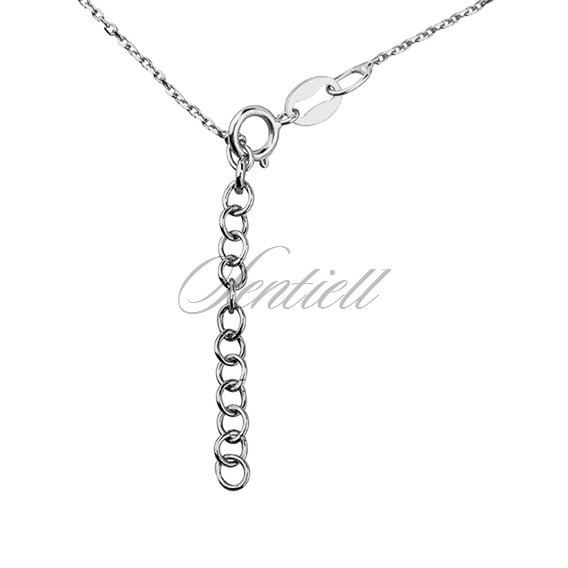 Silver (925) necklace with open-work heart and circle