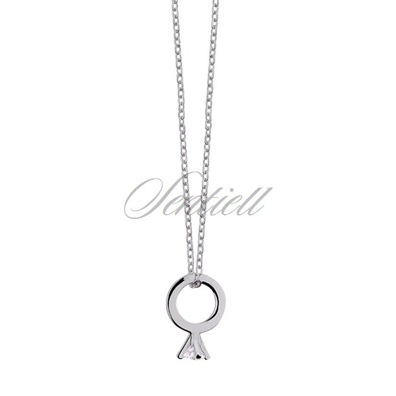 Silver (925) necklace with ring pendant