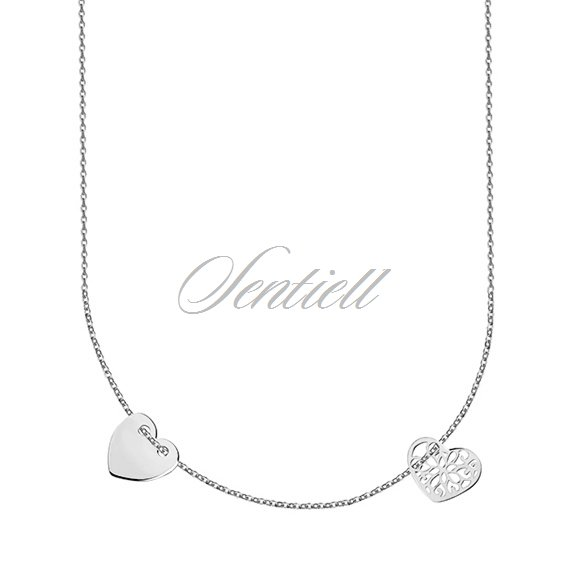 Silver (925) necklace with two hearts