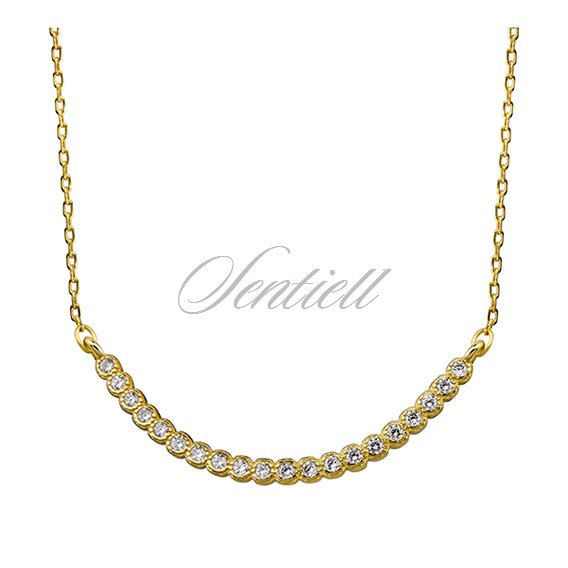 Silver (925) necklace with zirconia